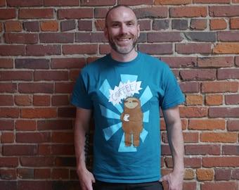 Men's Coffee Sloth Shirt