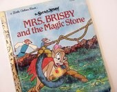 Vintage 1980's Childrens Book - Mrs. Brisby and the Magic Stone - Little Golden Book, Ingoglia and Nicklaus