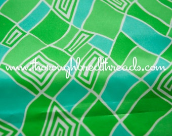 Mod Green Geometric - New Old Stock Vintage Fabric 60s 70s Great Graphics