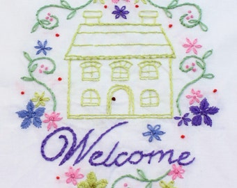 Home Sweet Home Hand Embroidery Pattern House Design Home Is Where The Heart Is