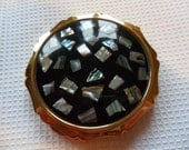 Vintage Stratton Compact Abalone Shell
