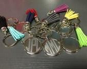 Monogrammed Tassel Keychain -