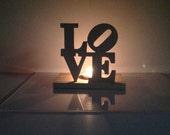 LOVE Tea Light Holder Display Unfinished