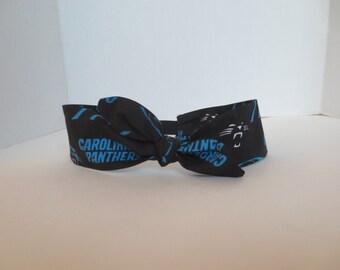 Carolina Panthers - Adult Headband - Panthers headbands - Adjustable Headband - Ships In 24 hours
