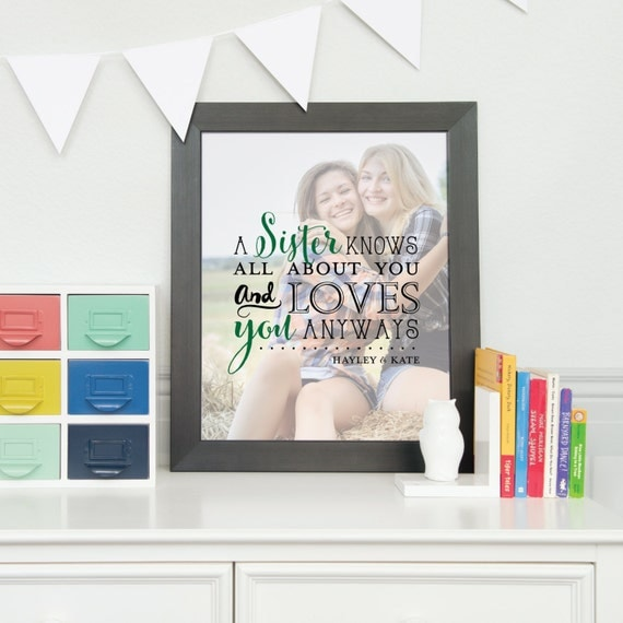 Sorority Sister Photo Quote, A Sister Knows All, Sorority Sister Gift ...