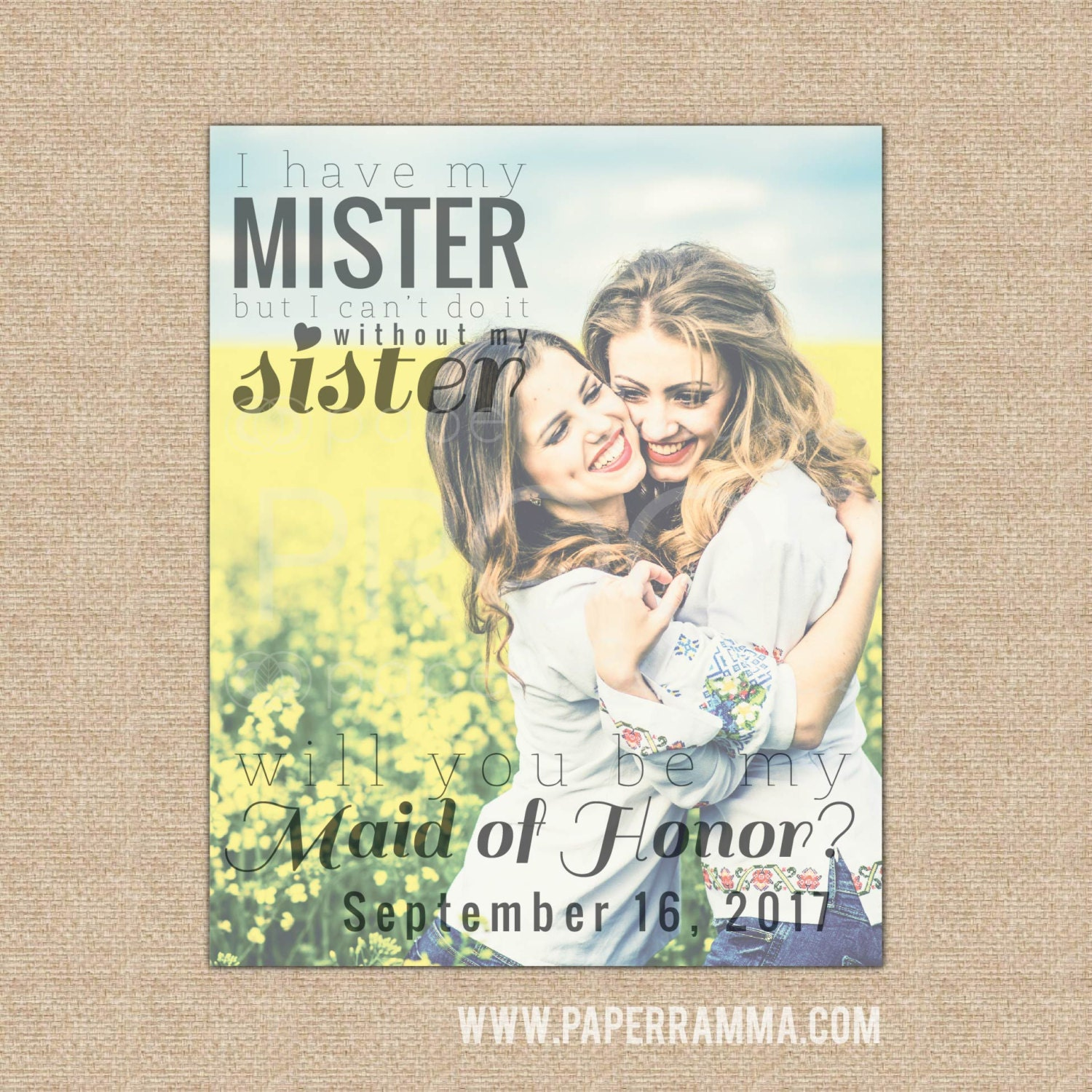 Maid Of Honor Proposal Will You Be My Maid Of Honor Sister