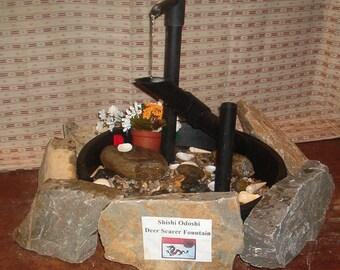 Shishi Odoshi or Deer Scarer Fountain Post-Style w/Pump! NEW!