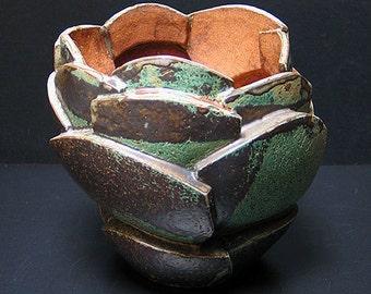 Growing green vase