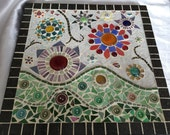 Small In Bloom mosaic art