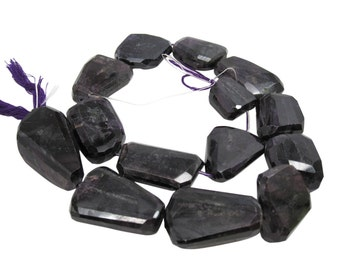 AAA Sugilite Gemstone Beads, 17mm x 22mm, Natural African Sugilite, Faceted Nuggets, SKU 4401