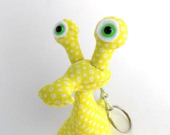 Alien Keychain, Toys for Boys, Easter Basket Stuffer, Cute Keychain, Weird Keychain by Adopt an Alien named Davey