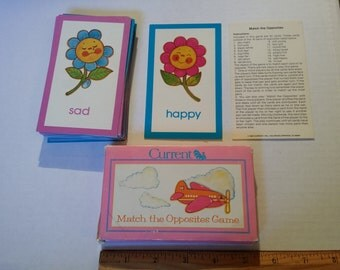 Match game, cards, vintage