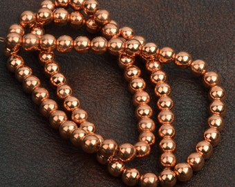 """Copper Beads on a strand, graduated sized strand 24"""", 8535.98"""