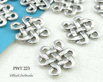 17mm Connector Celtic Knot Pewter Beads (PWT 223) 10 pcs BlueEchoBeads