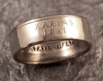 Kansas Coin Ring State Quarter YOUR SIZE MR0705-Tstks