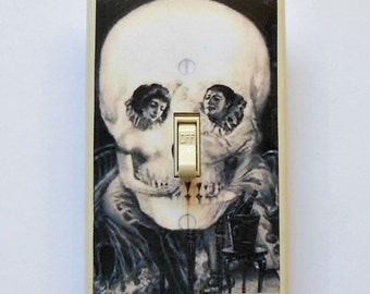 MATCHING SCREWS on Gag Switchplates- Men's gag gift humorous gift gag switch plates funny switch plates Michelangelo David skulls Mae West