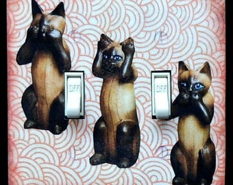 Variety of Cat switch covers MATCHING SCREWS- London cat art Steinlein print vintage Cat poster cat collectible cat light switch cat posters
