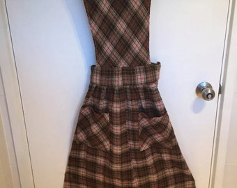 Vintage Woolen Pinafore Dress size 10