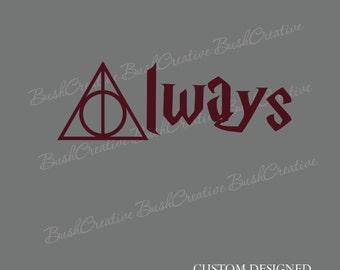 Harry Potter Vinyl Wall Decal Always 151