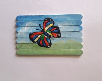 Popsicle stick etsy for Popsicle stick crafts for adults
