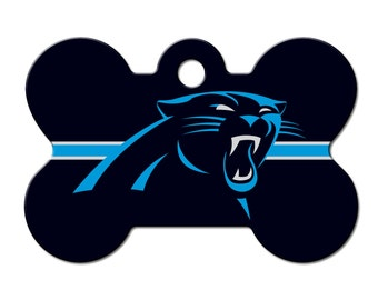 Carolina Panthers Licensed Bone Pet ID Tag
