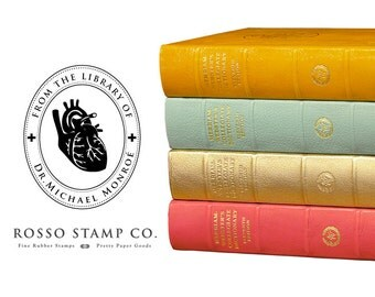 From the Library of Stamp - Vintage Inspired Bookplate - Medical Inspired Bookplate for Doctor or Nurse
