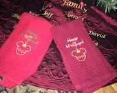 YEAR END SALE Disney Christmas Mickey Minne Ornament Hand towel
