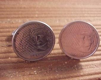 Brazil Coin Cuff Links