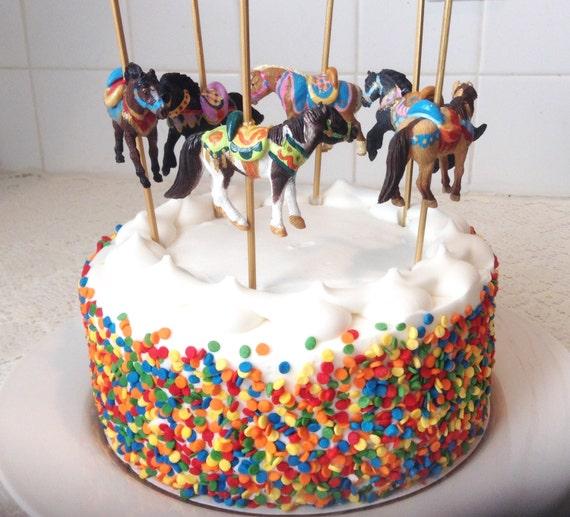 Circus Carousel Birthday Party Cake Decorations Birthday Wikii