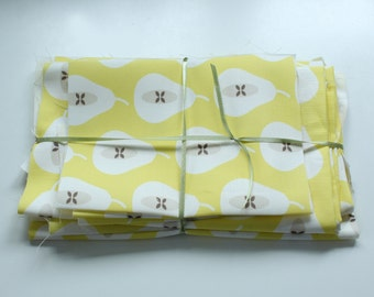 Scandi fabric scrap pack 14 - Mini Pear Print Yellow