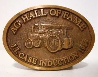 Case Tractor Belt Buckle Ag Hall Of Fame 1989 Induction Limited Edition Agriculture Farm