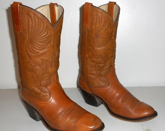 Mens 9 D Cowboy Boot Acme Dingo Brand Distressed Vintage Western Wear Country