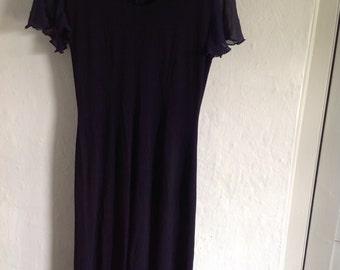 1980s Vintage Jean Muir dress  size  10