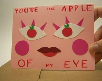 apple valentine card and envelope