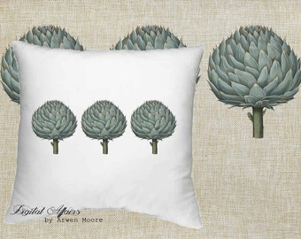 Digital Download Veg Garden Collection Vintage Chic Botanical Artchoke Black White Image 4 Papercrafts, Transfer, Pillows, Totes, Etc va033