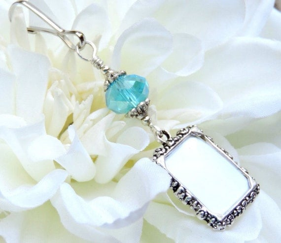 Blue Bridal Bouquet Charm : Wedding bouquet photo charm something blue for by