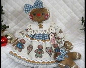 """Primitive Raggedy NEW 18"""" """"Mama Ginger""""~w/ornie~Gingerbread Doll Collection!"""