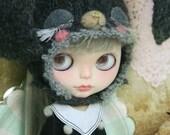 jiajiadoll - sailor suit black pompom collar shirts for Momoko or Misaki or Blythe