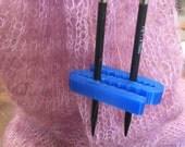 needle wrangler, blue