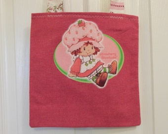 Up cycled Re cycled Tote Bag Strawberry Shortcake