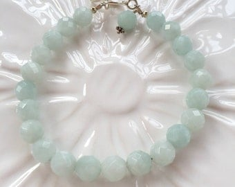 Faceted Amazonite Stacking Bracelet