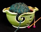 Knitting Bowl - Brown Yarn Bowl - Knitting Storage - Crochet Bowl - Yarn Holder - In Stock