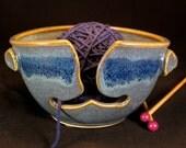 Yarn Bowl - Knitting Bowl - Blue Yarn Bowl - Gift for Her - Bowl Yarn - Crochet Bowl - Yarn Holder - Yarn Bowl Pottery - YarnBowl -InStock