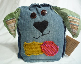 Francesca Grunt- handmade, upcycled, friendly monster