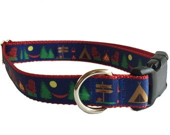 "1"" Camping Dog Collar Buckle or Martingale"