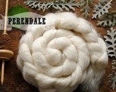 PERENDALE Undyed Natural Ecru Combed Top Natural Wool Roving Spinning Felting fiber - 4 oz