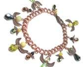 chunky charm bracelet twelve protection angels copper chain