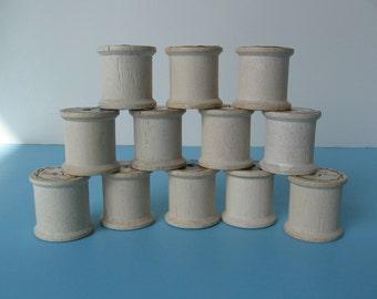 Wood/Wooden Thread Spools - Lot Of 12 Thread Spools - Group B