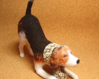 Baxter the Beagle Needle Felt