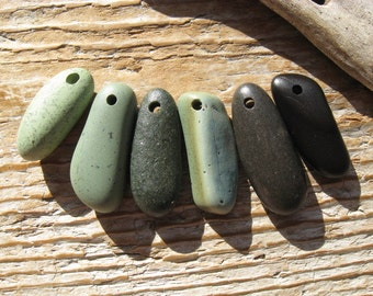 SLAG and BEACH Stone Stick Pendants Charms